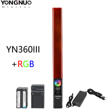 永諾 YN360 iii YN360III ハンドヘルド led ビデオライトタッチ調整バイ結腸 3200 に 5500 rgb カラー温度とリモート