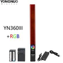 YONGNUO YN360 III YN360III כף יד LED וידאו אור מגע התאמת דו colo 3200k כדי 5500k RGB צבע טמפרטורת עם מרחוק
