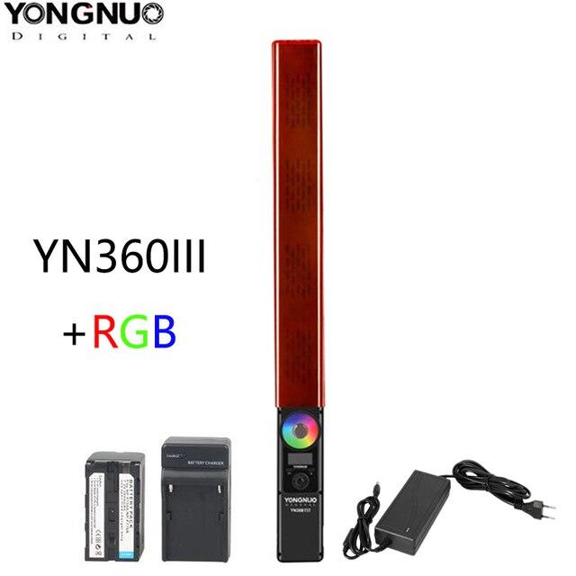 Yongnuo YN360 Iii YN360III Handheld Led Video Light Touch Aanpassen Bi Colo 3200 K Tot 5500 K Rgb Kleur temperatuur Met Afstandsbediening