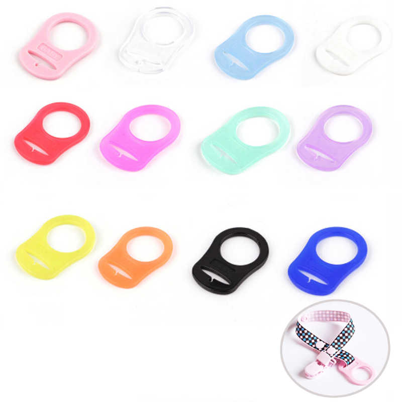 10Pc Multi Silicone Baby Dummy Pacifier Holder Clip Adapter Ring for //KAM