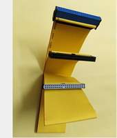 IDE HDD ATA 40 Pin 80 Wire Drive 3-Connector Flat Data  Ribbon Cable  Yellow