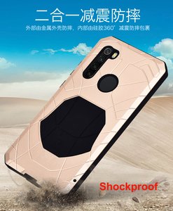 Image 2 - Case For Xiaomi Redmi Note 7 8 9 9T 9S 10 Lite CC9 Pro K20 K30 Max3 Mix2 F1 Shockproof Heavy Duty Tank Aluminum Metal Cover