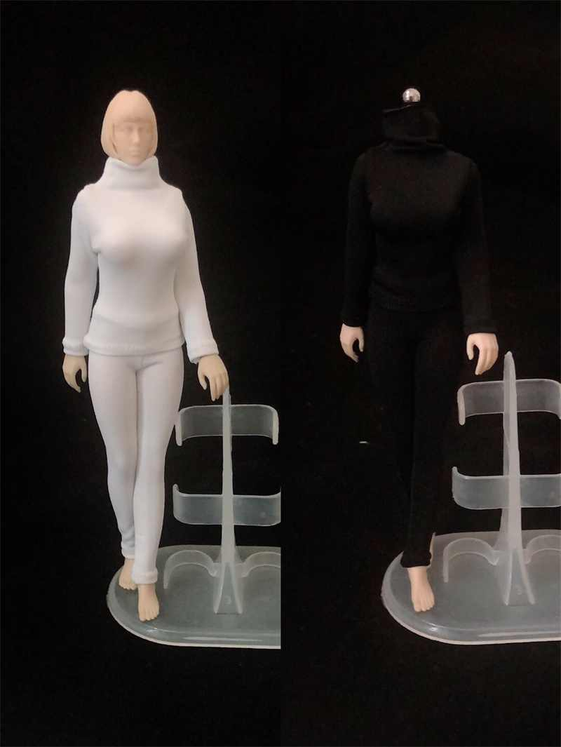 HENG TOYS 1//12 Female Flexible Body Pale Skin Huge Chest Figure Model Collection