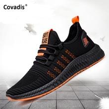 Modne trampki lekkie męskie obuwie oddychające obuwie męskie zasznurowane buty sportowe tanie tanio covadis Mesh (air mesh) Przypadkowi buty RUBBER Lace-up Pasuje prawda na wymiar weź swój normalny rozmiar Podstawowe