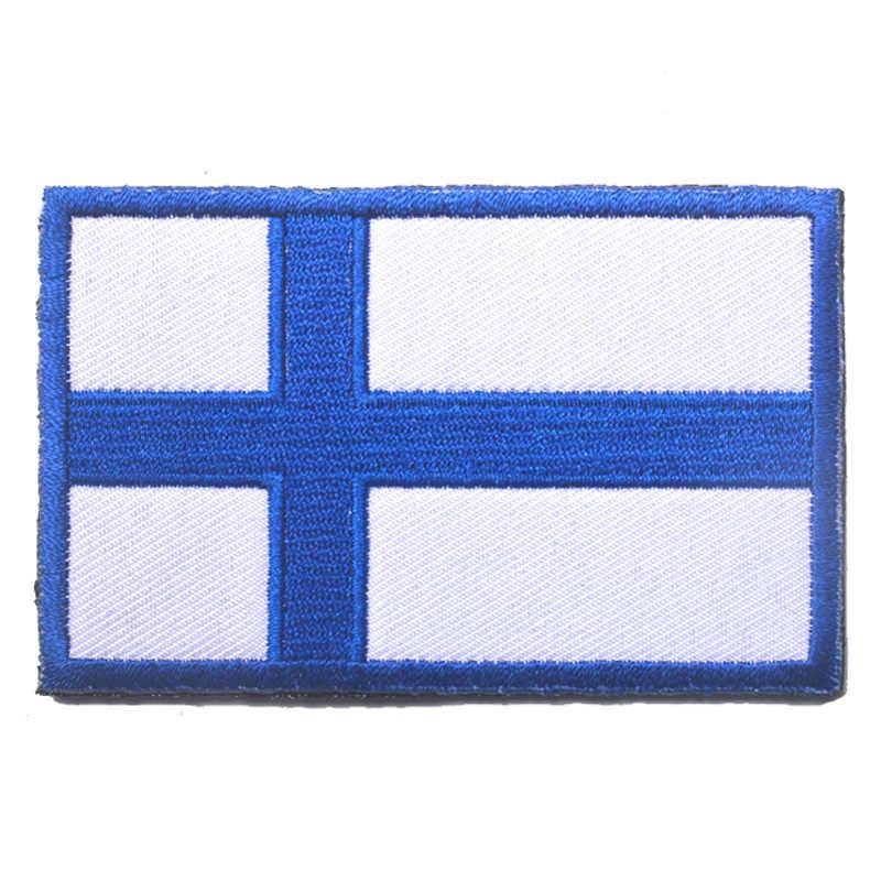 北欧スタイルのベルクロ刺繍フラグショルダーバッグエンブレムアイスランドとノルウェースウェーデンデンマークフィンランドスイスバッグ補遺
