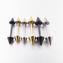 2 adet 18G başak paslanmaz çelik bilye küpe düz halter ok Tragus küpe burun yüzük vücut Piercing takı