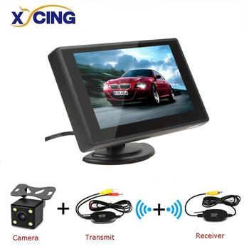 XYCING 4.3 Inch Color TFT LCD Car Rear View Monitor Car Backup Parking Monitor for Rear View Camera DVD VCD image