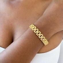 Bracelets en acier inoxydable pour femmes, sans ternir, en plaqué or, détachables, hip hop, nouvelle collection 2020