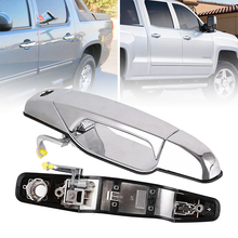 цена на Chrome Outer Exterior Door Handle for 2007-2014 Chevrolet GMC Front Left Driver Side Trims Car Decoration Exterior Accessories