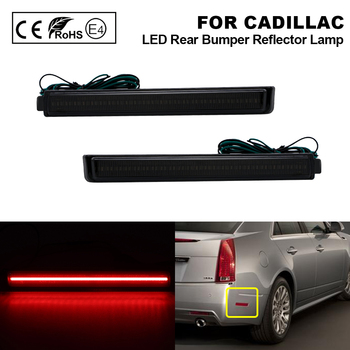 For Cadillac CTS 2008-2013 Cadillac CTS-V 2009-2013 Smoked Rear Bumper LED Reflector Light lamp LED Side marker 2Pcs image