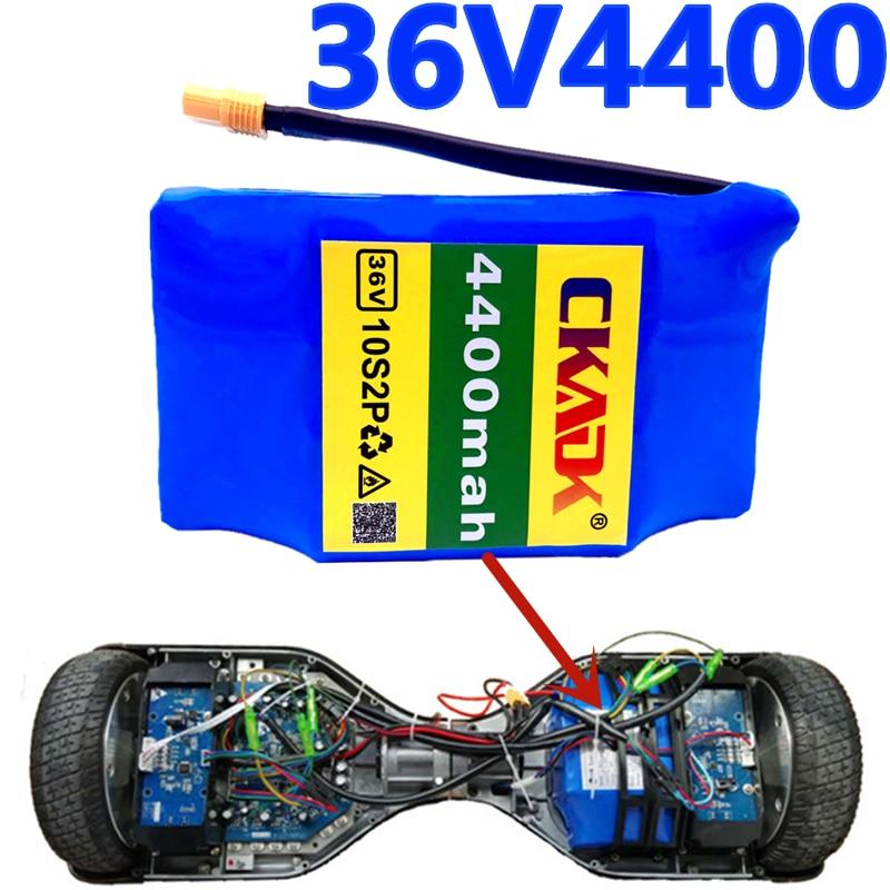 Аккумуляторная батарея 18650 CKADK 10s2p, 36 В, литий-ионная аккумуляторная батарея 100% мАч, 4,4 Ач, одноциклическая батарея ХОВЕРБОРДА напряжения