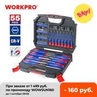 WORKPRO 55PC Set di cacciaviti cacciaviti di precisione Set di cacciaviti per punte di cacciavite per telefono