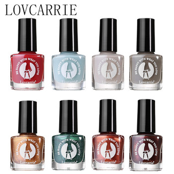 LOVCARRIE Spring Glitter Nail Polish 6.3ml Ordinary Nail Lacquer Nude Fast Dry Regular Polish Varnish Set for Nail Art Design ombre design nail polish 1pc