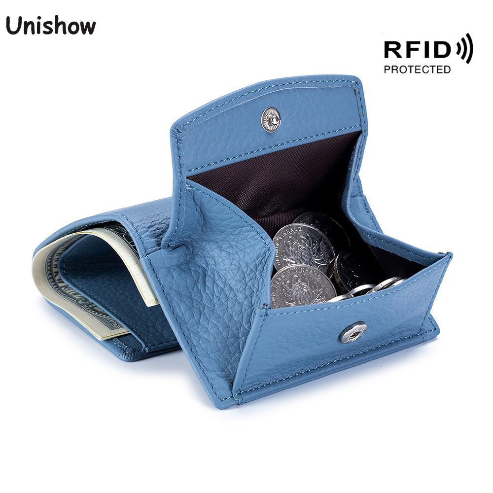 10.35US $ 45% OFF Rfid Blocking Genuine Leather Women Wallet Coin Purse Brand Designer Female Leathe...