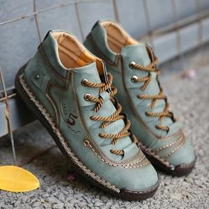 Image 5 - Zapatos informales de cuero dividido para hombre, mocasines de talla grande, Super comodidad nieve, gran oferta
