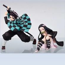 15cm Anime Figure Demon Slayer Kimetsu no Yaiba Tanjirou Nezuko PVC Figurine Model Toys Doll Anime Collection Toys Action Figure цена и фото