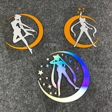 Автомобильный Стайлинг виниловая наклейка мультфильм девушка лунный свет Сейлор лед Мун мотоцикл оконные наклейки