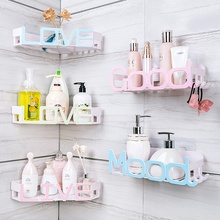 цена на Bathroom Wall Shelf Shower Corner Shelf Bath Storage Holder Rack Kitchen Wall-hanging Suction Cup Waterproof Bathroom Organizer