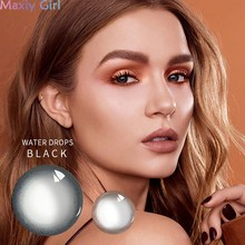Colorful Beauty Pupil Soft Eyes Contact Lens With Myopic Degree Powder Water Drops Series Eyewear Party Makeup Cosmetics(China)