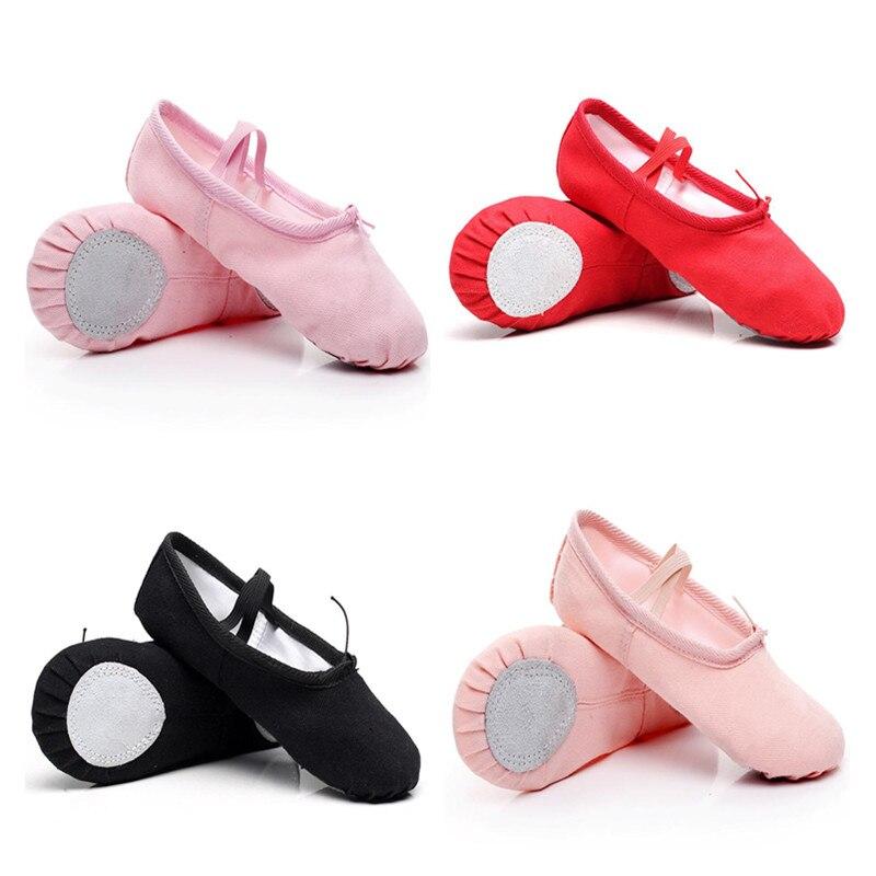 Kids Ballet Shoes Canvas Ballet Dance Slippers Split Sole Girls Childern Ballerina Practice Shoes For Dancing Toddler Girls Shoe
