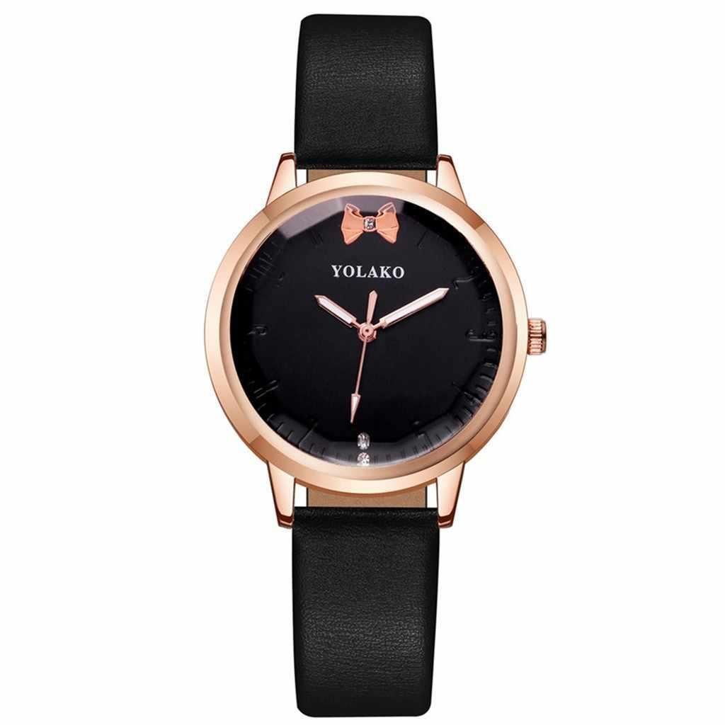 Persoonlijkheid Leuke Boog Riem Vrouwen Horloges Legering Gesp Uniek Ontwerp Quartz Horloges Dames Eenvoudige Low-Key Polshorloge Reloj mujer