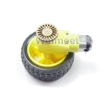 1:48 1:120 Gearbox DC Gear Motor Smart Robot Car TT Motor with Plastic Tire Wheel+Encoder Disc image