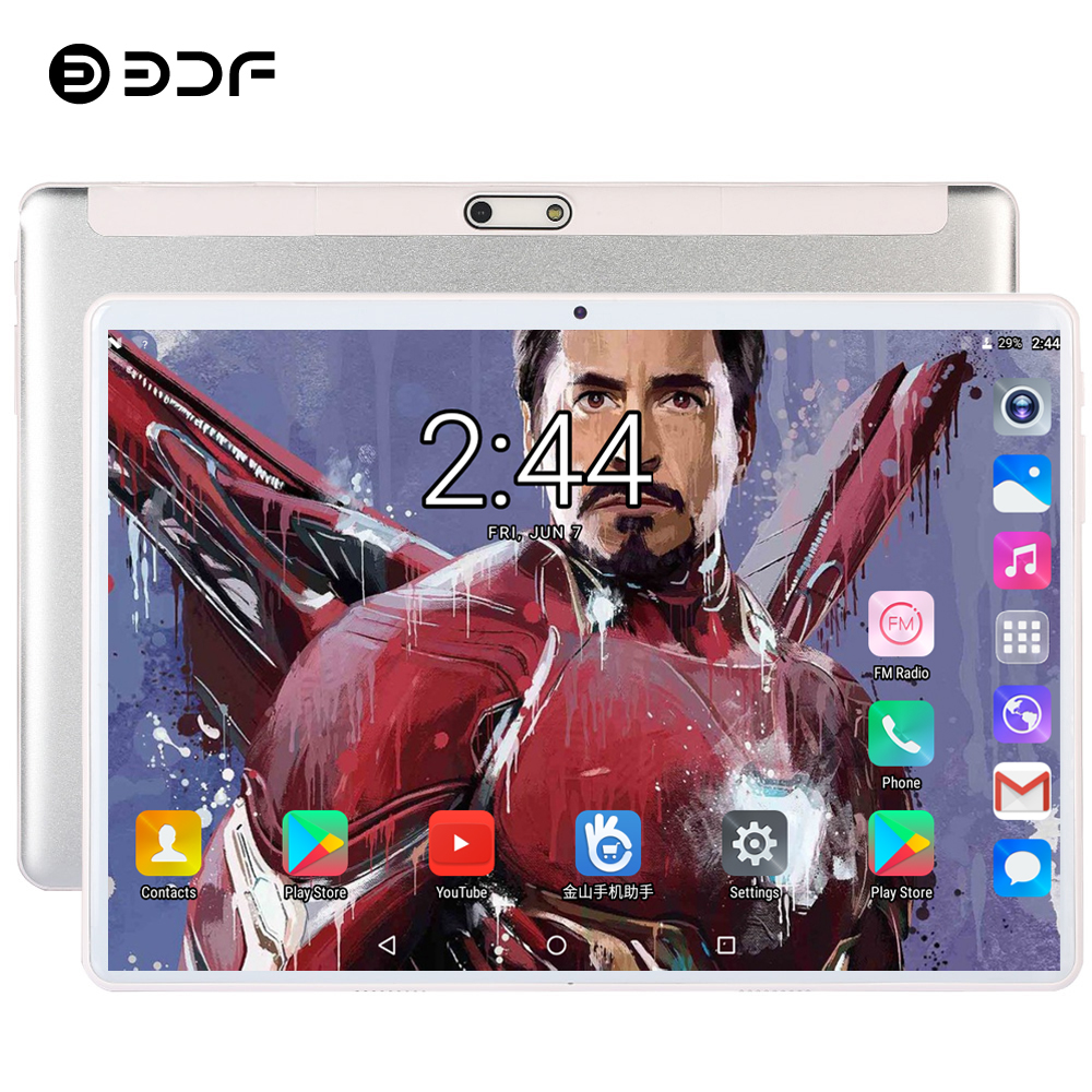 BDF 2019 New Tablet 10 Inch 4G LTE Phone Call Tablet PC Android 7.0 Octa Core 4GB RAM 64GB ROM Tab 1280*800 IPS Pc Tablets 10.1