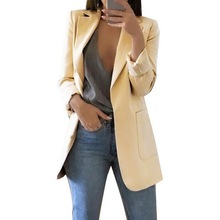 Loozykit casual long-sleeved solid color slim jacket ladies business suit shirt female