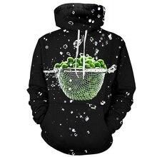 Cloudstyle 2019 Green Vegetables Men 3d Hoodies Healthy Zipper Casual Washed Sweatshirts Custom Hoodie Plus Size