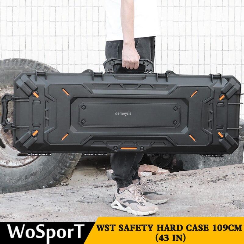 Case de Proteção Arma Tática Pistola Câmera Caixa Segurança Caça Portátil Militar Tiro Bolsa Airsoft Paintball cs Cases Bolsas