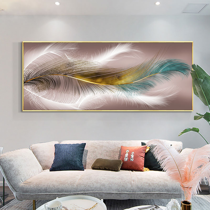 Modern Abstract Fluttering Feathers Painting On Canvas Print Nordic Poster Wall Art Picture For Living Room Home Decor Frameless