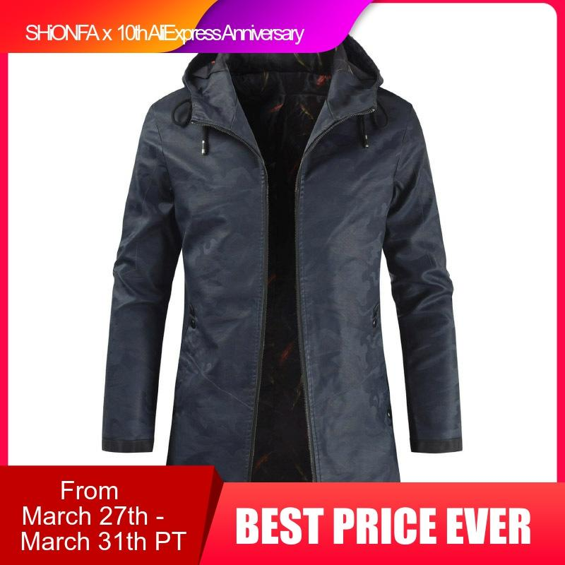 Spring Men Stylish Long Jackets Hooded Faux Leather Clothing Casual Full Zipper Assassin Jacquard Autumn Winter PU Coat 4XL