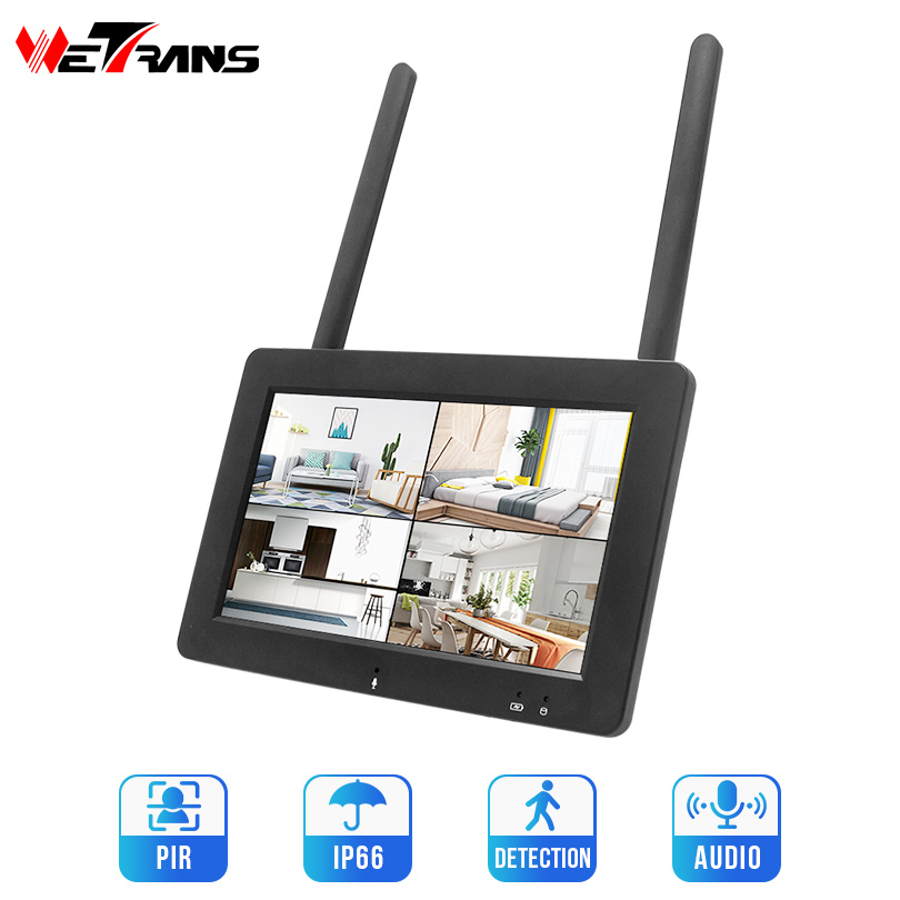 Wetrans 4CH 1080P NVR Wifi SD Card 7 Inch Touch Screen For IPPRO Wireless Cameras Mini Network Video Recorder