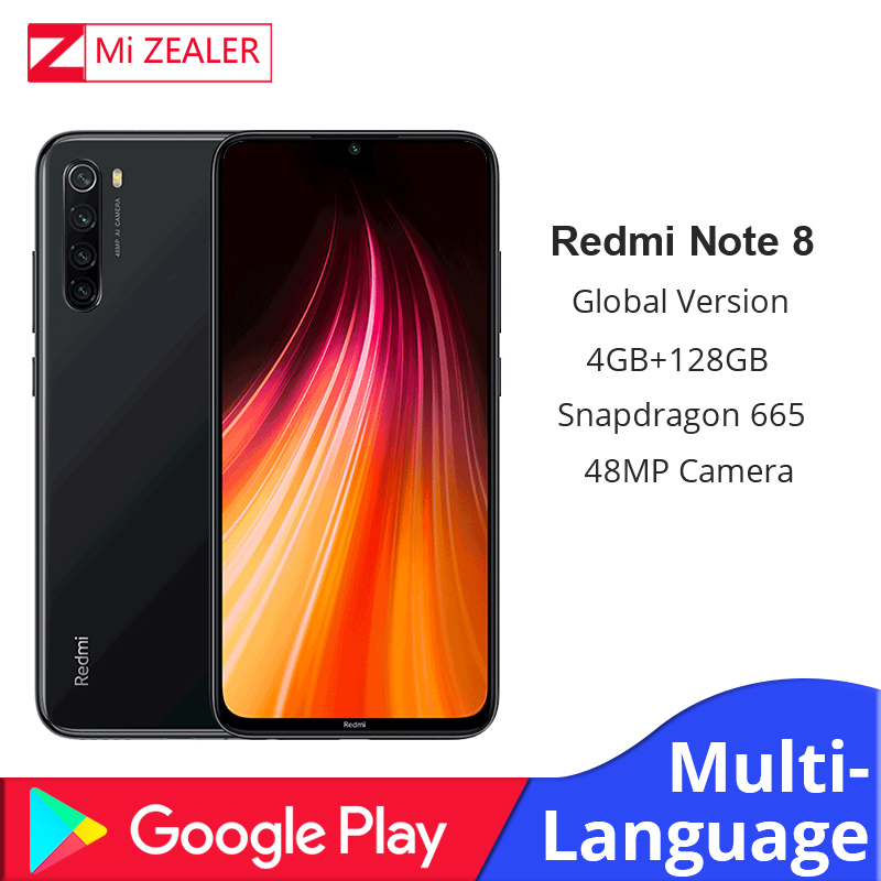 In Stock Global Version Xiaomi Redmi Note 8 4GB RAM 128GB ROM Smartphone Snapdragon 665 48MP 6.3