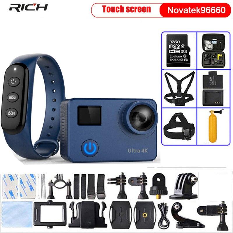 Caméra d'action Ultra HD 4 K/30fps 1080 p/60fps NT96660 Wifi 12MP casque caméra d'enregistrement vidéo caméra de sport étanche