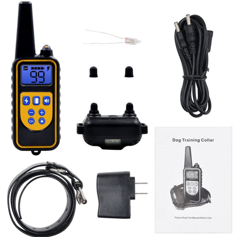 800yd <font><b>Electric</b></font> <font><b>remote</b></font> <font><b>Dog</b></font> <font><b>Training</b></font> <font><b>Collar</b></font> Waterproof Rechargeable LCD Display for All Size beep Shock Vibration mode 40%off image