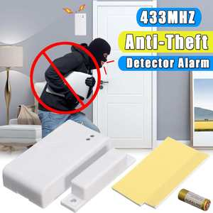 433MHz IC Code Wireless Window Door Sensor Magnetic Contact Door Alarm Anti-Theft Detector For Wireless Home Alarm Panel(China)
