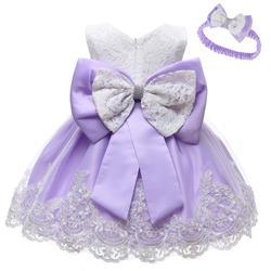 Bebê recém-nascido infantil princesa vestido para 3 6 9 18 mês 1 2 anos meninas roupas de festa do bebê 1st aniversário vestidos traje conjunto