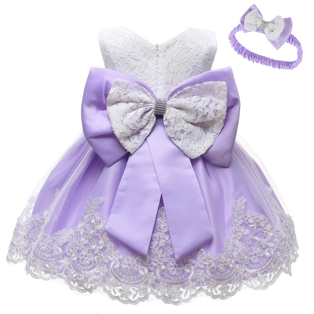 Newborn Baby Infant Princess <font><b>Dress</b></font> For 3 6 9 18 Month 1 <font><b>2</b></font> Years Girls Party Clothing Baby 1st <font><b>Birthday</b></font> Vestidos Costume Set image