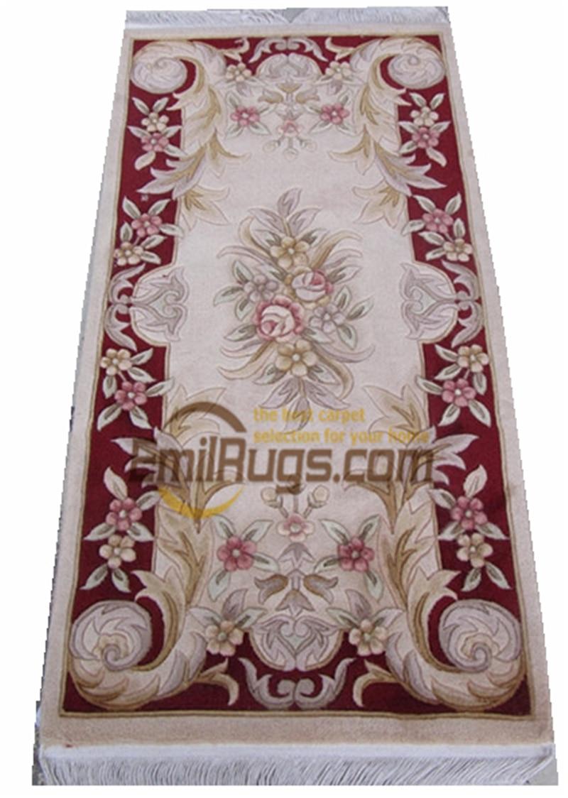 Savonnerie épaisse et en peluche tapis européen sur la main à la mode ménage décore circulaire Antique noué à la main gc85msav yg8