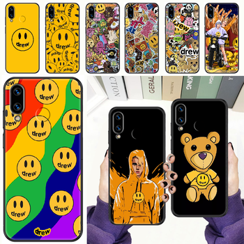Justin Bieber Drew Fashion Phone case For Huawei Honor 6 7 8 9 10 10i 20 A C X Lite Pro Play black painting prime silicone cover image