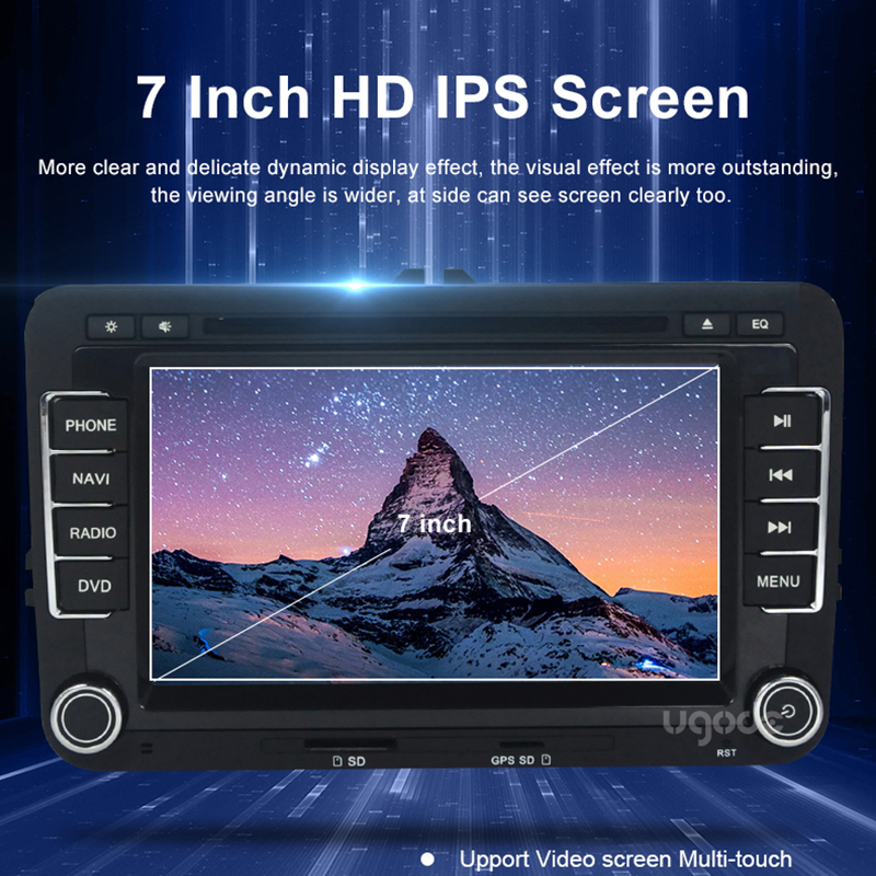 Ugode Car Multimedia Player GPS Navigation 7 Inches Screen Monitor Bluetooth Android OS For VOLKSWAGEN GOLF MK6 2009 2012 in Car Multimedia Player from Automobiles Motorcycles