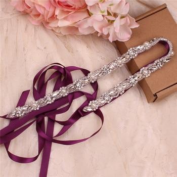 Classic bridal beltWedding dress beltShiny beltRhinestone beltPearl dinner accessories - discount item  20% OFF Wedding Accessories