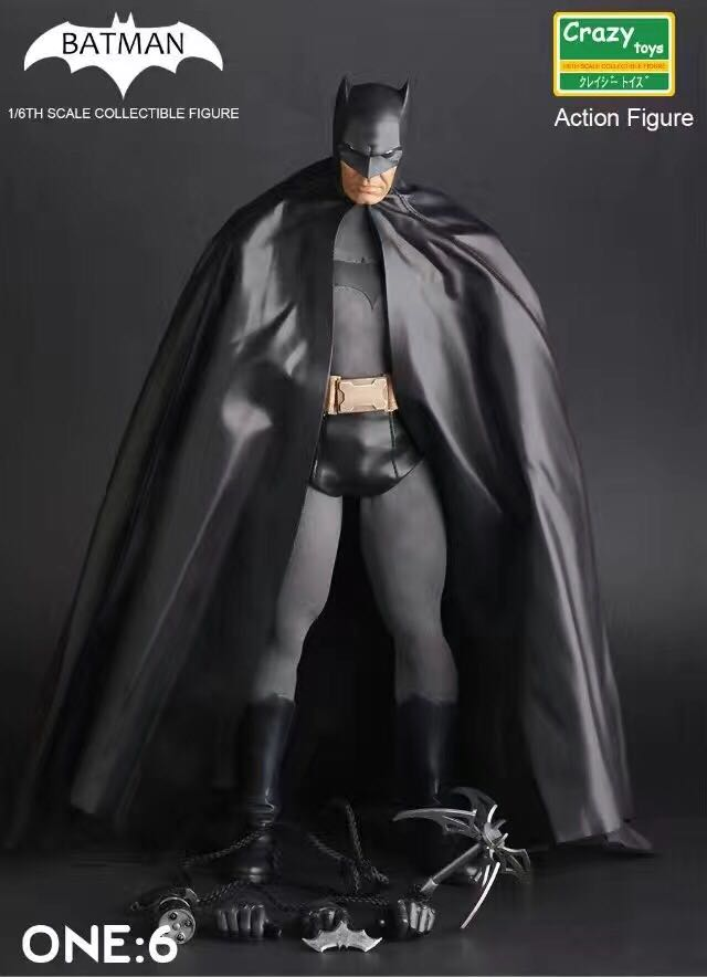 Crazy Toys 1:6 Batman Black Ver. BJD  The Dark Knight Bat Man Collectible Action Figure Toys Joints Moveable
