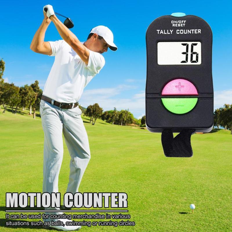 Mini Pocket LCD Screen Add Subtract Calculator Set For Golf Sports Rope Skipping Suitable For Balls Swimming Or Running
