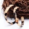 Женские винтажные серьги-кольца из ацетата, большие круглые серьги с леопардовым принтом, простые геометрические серьги из акриловой уксус...
