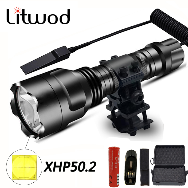XHP50.2 LED Tactical Flashlight Powerful Xlamp Waterproof T6/L2 Torch Scout Lanterna Hunting Light 5 Modes By 1*18650 Battery