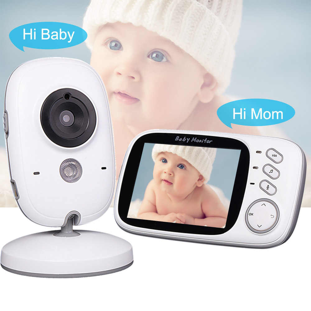 متعددة الوظائف مراقبة الطفل مع كاميرا واي فاي الطفل مربية كاميرا فيديو اتجاهين الصوت مراقبة درجة حرارة الطفل النوم مراقب