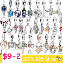 925 Sterling Silver Rose Flower Family Tree snowflake Dangle Charm club 2021 Pendant Fit Original Pandora Bracelet S925 Jewelry