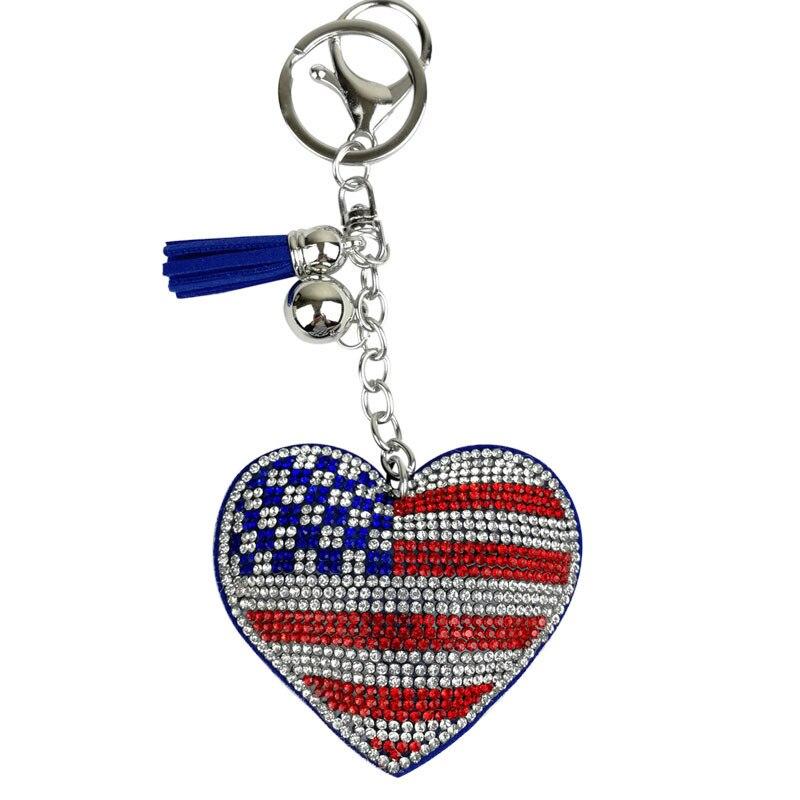 Лидер продаж новый стиль замшевый флаг Соединенных Штатов брелок